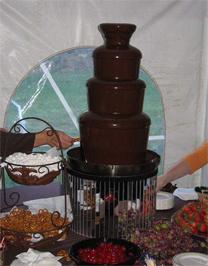 Masterpiece Rentals provides fountain rentals for parties in Elkins, WV