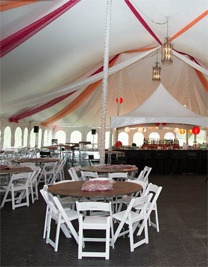 Masterpiece Rentals provides table and chair rentals for parties in Elkins, WV