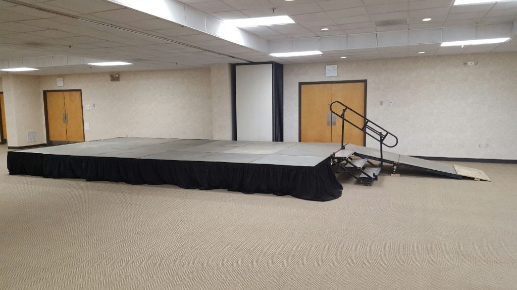 Staging for events and parties in West Virginia